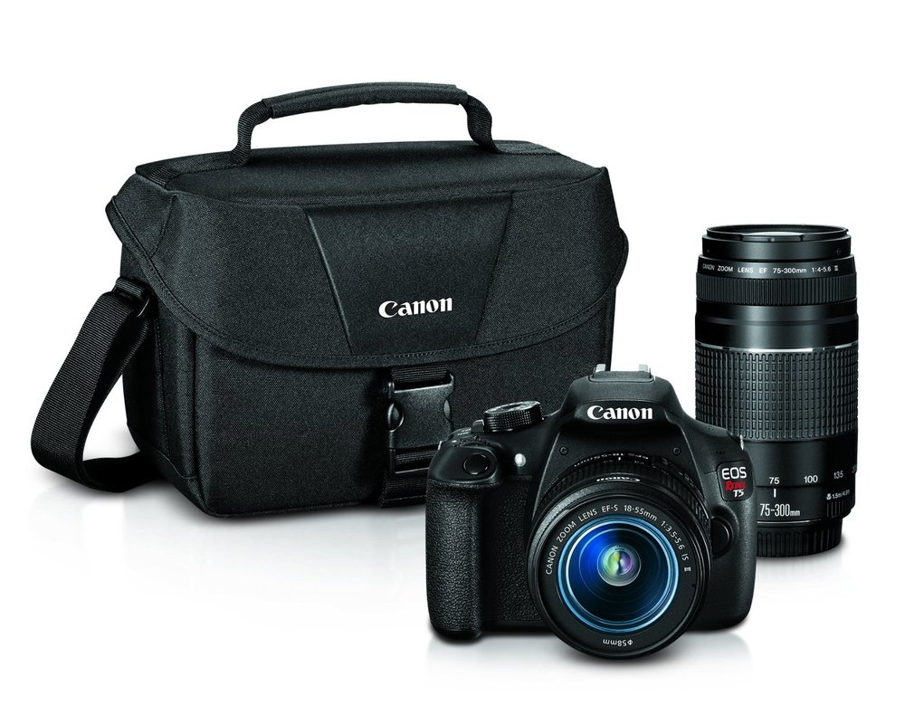 Canon's T5 Is A Great Last Minute Gift for Mom for Christmas Camera Set for Under $500 (Image via Amazon)