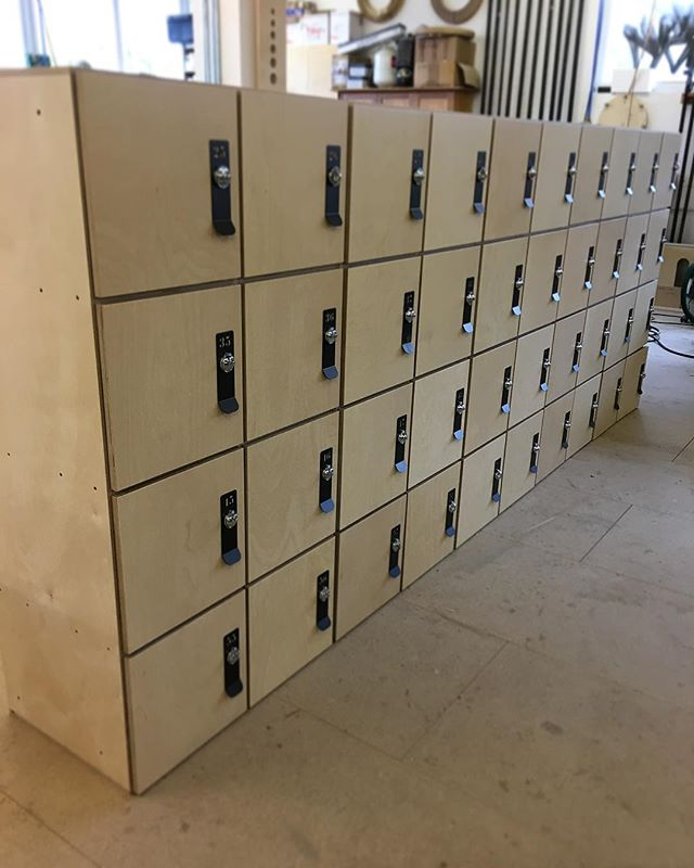 At a gym near you some lockers in Birtch ply went out yesterday #plywood #lockers