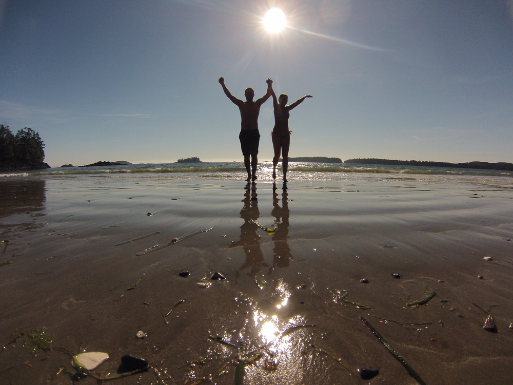 ...one of my favourite days last summer, celebrating the hours of sunshine that came after a rainy morning in Tofino, BC.