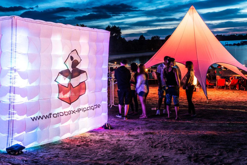 Firmenevent Strand See Zelt