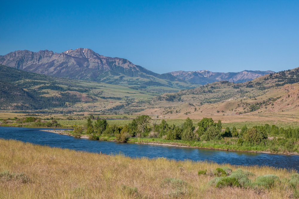 The Yellowstone River in Montana's Paradise Valley, north of Yellowstone Nat'l Park. (Photo Donna Lawson.)