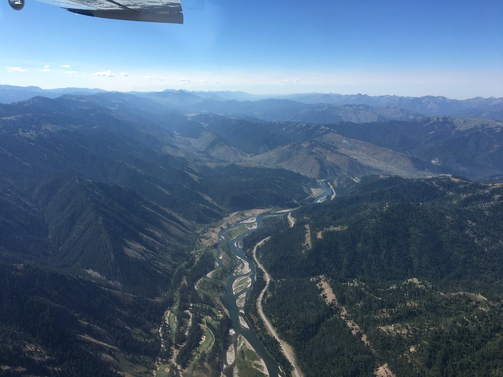 The braided Snake River runs between Wyoming's Hoback Range (left) and the Palisades Wilderness Study Area (right). (Photo GYC.)