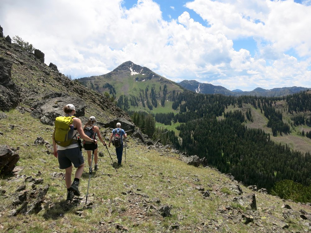 Hikers heading to Mt. Blackmore. (Photo GYC.)