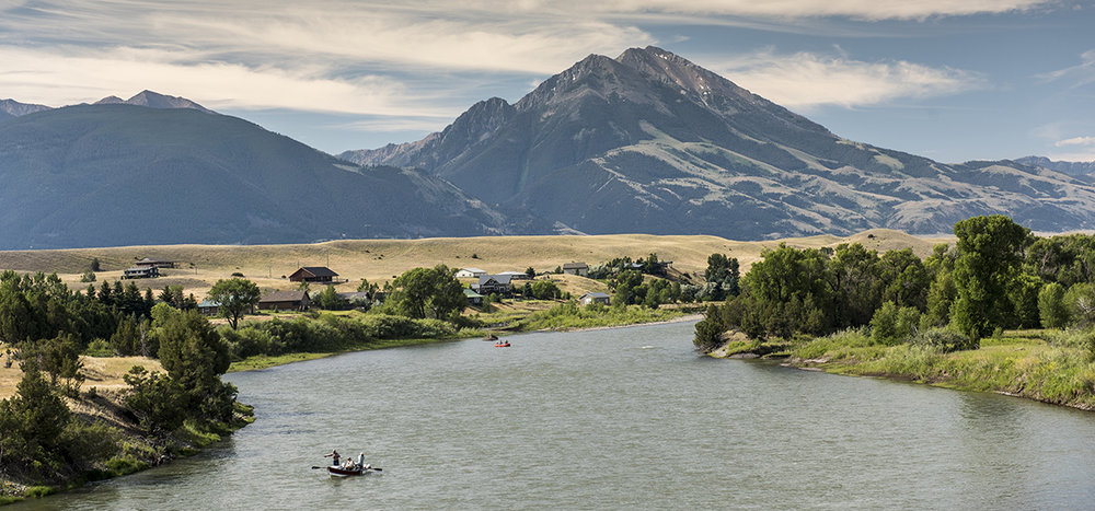 Anglers fishing the Yellowstone River with Emigrant Gulch in the background. A judge this week agreed with us that Montana DEQ needed to take a closer look at the industrial-scale gold project Canadian company Lucky Minerals is planning to develop in the Gulch. (Photo Bill Campbell.)