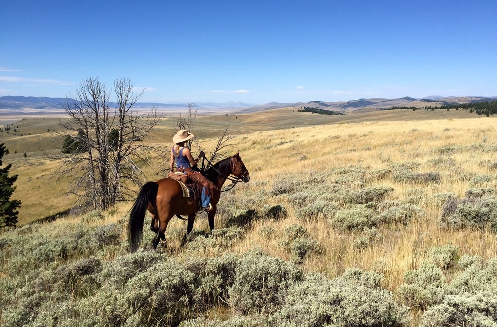 Shana Drimal in Centennial Valley, Montana. (Photo GYC.)