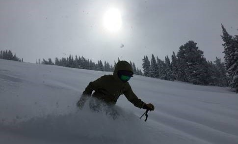 Allison Michalski skiing at Grand Targhee Resort in Wyoming. (Photo Allison Michalski.)