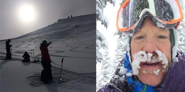 Mac Dukart enjoying the powder on Teton Pass in the Bridger Teton National Forest. (Photos Mac Dukart.)