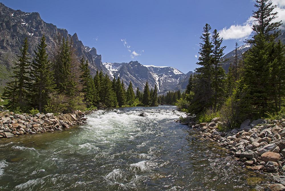 The East Rosebud Creek in the Beartooth Mountains. (Photo Kathy Lichtendahl.)