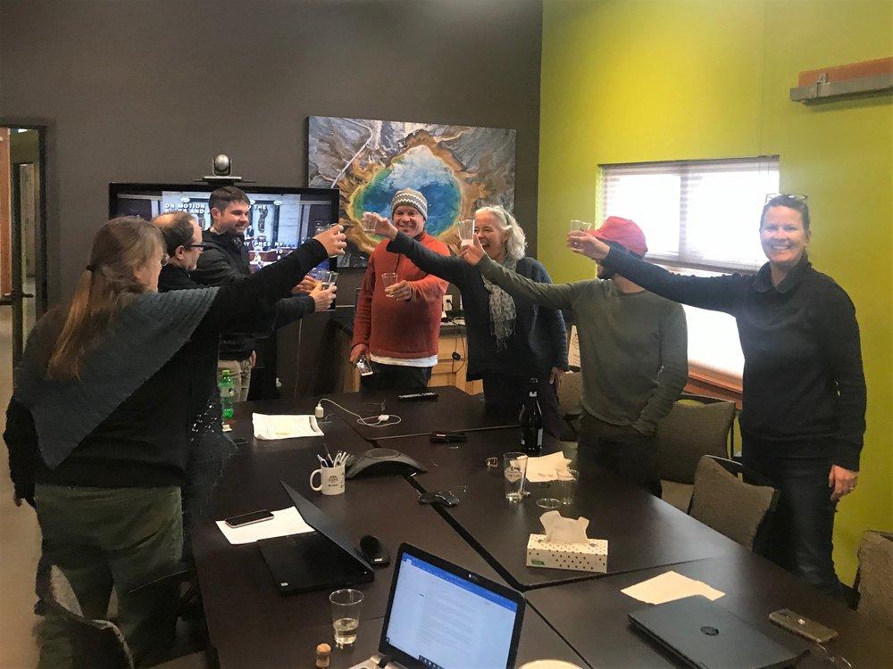 Team GYC celebrates the passing of the  Yellowstone Gateway Protection Act  through the U.S. House of Representatives. (Photo GYC.)