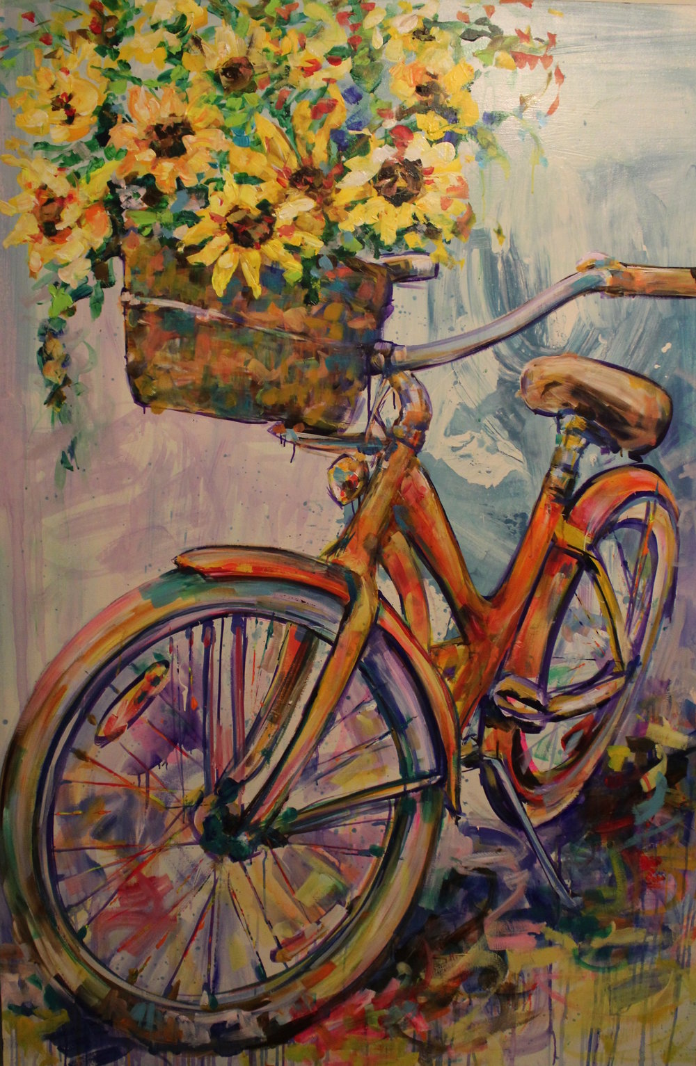 """Sunflower Love"" 4'X6' Acrylic on canvas"