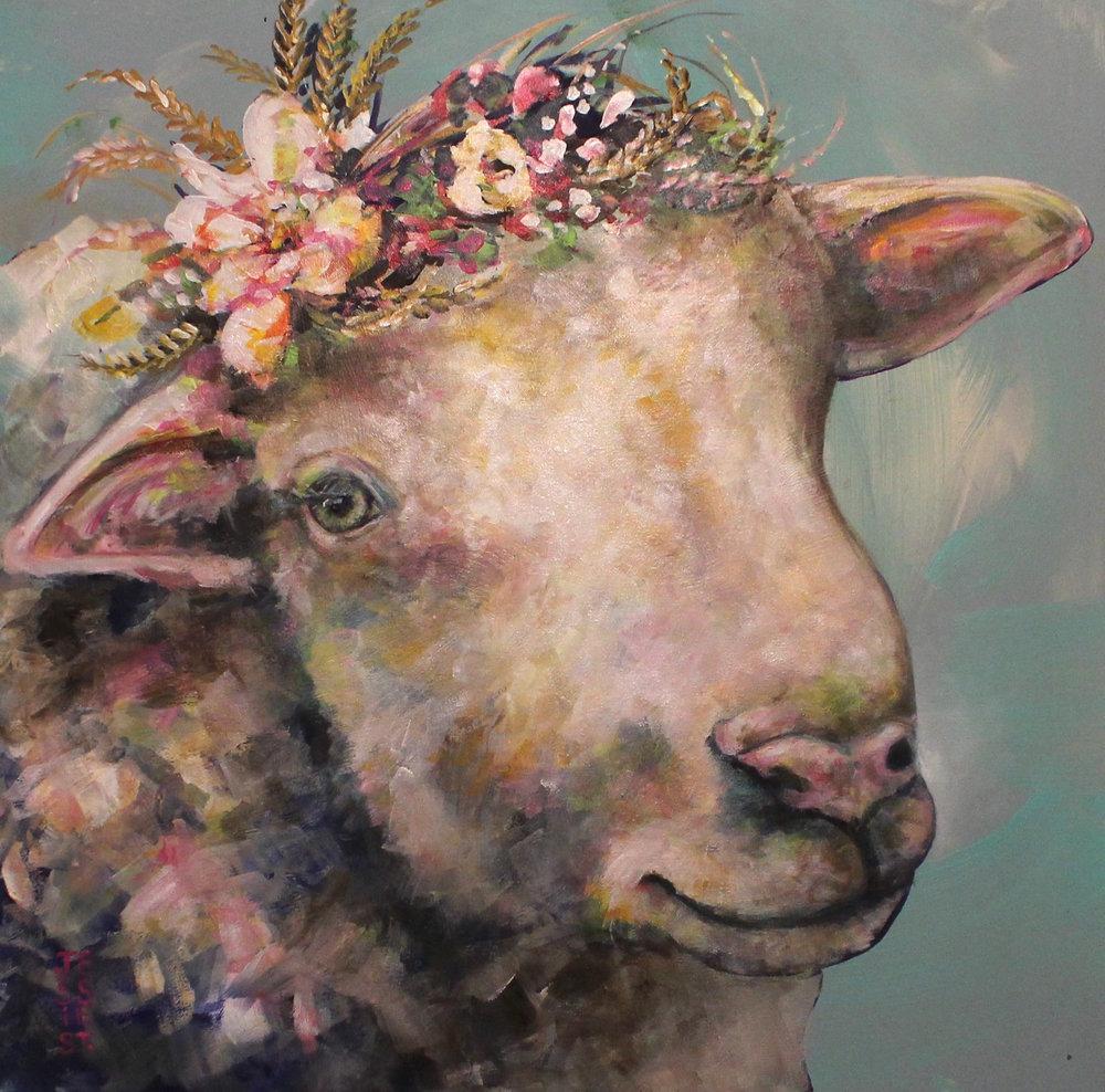"""Sheep Dreams"" 24""x24"""