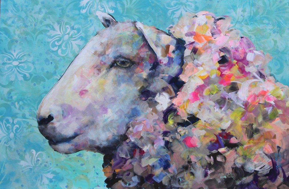 "Sweet Dreams; Acrylic on Canvas; 36"" x 24"""