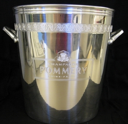 Engraved Pommery silver ice bucket
