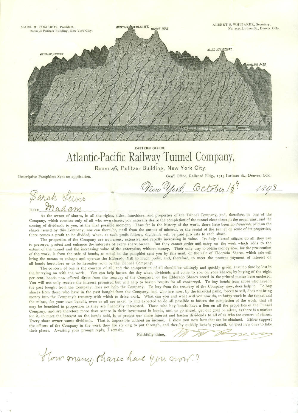 A-P Railroad Tunnel 1893