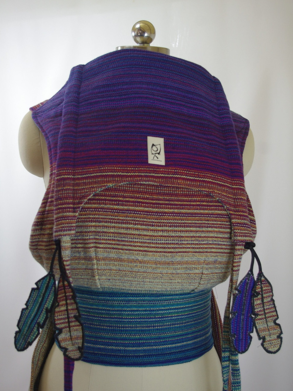 Paz Handwoven ObiMama Wrap Conversion Mei Tai