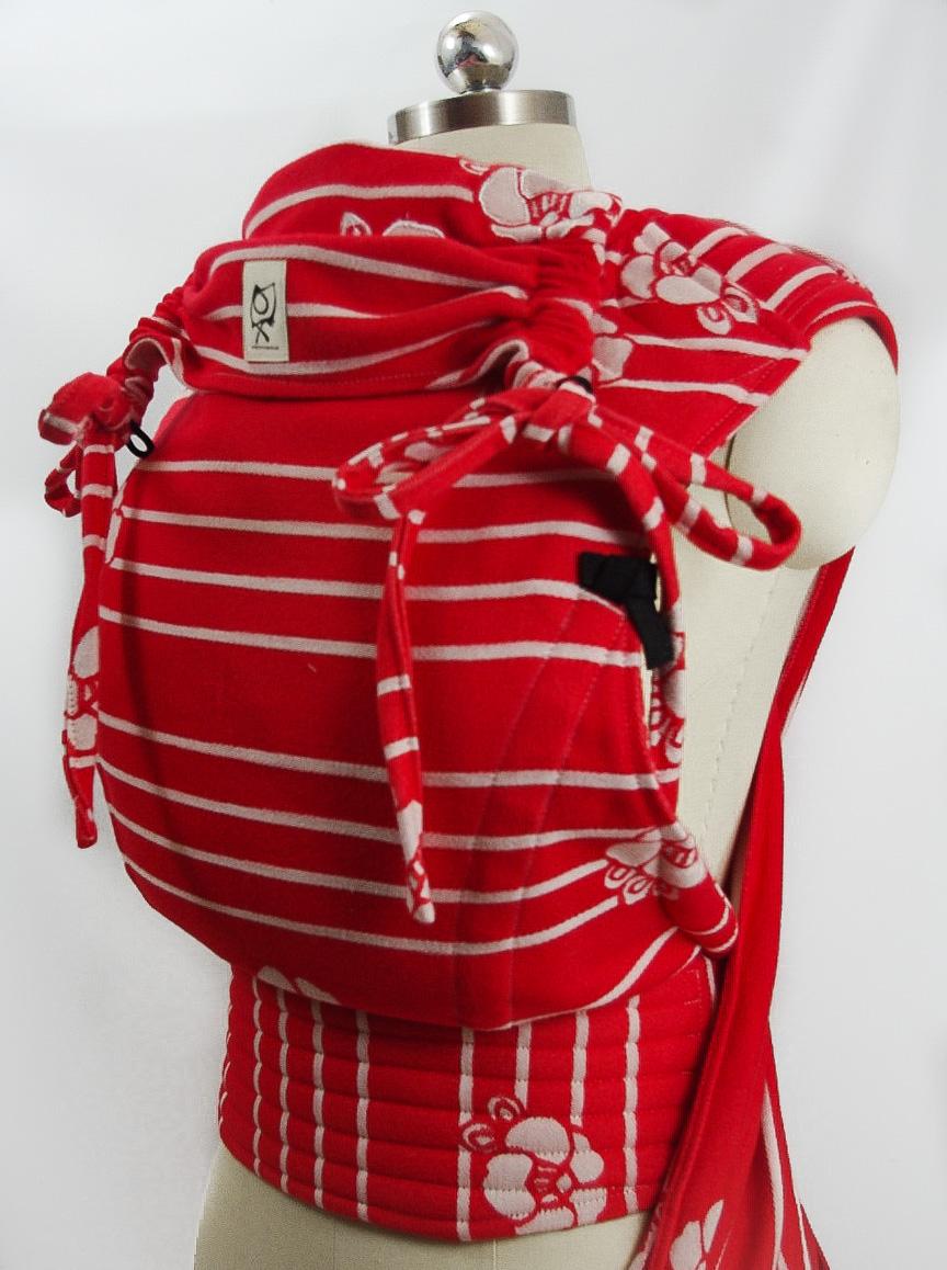 ObiMama Wrap Conversion Mei Tai Kokoro Textiles' Coco Lipstick Super duper cinchy conversion
