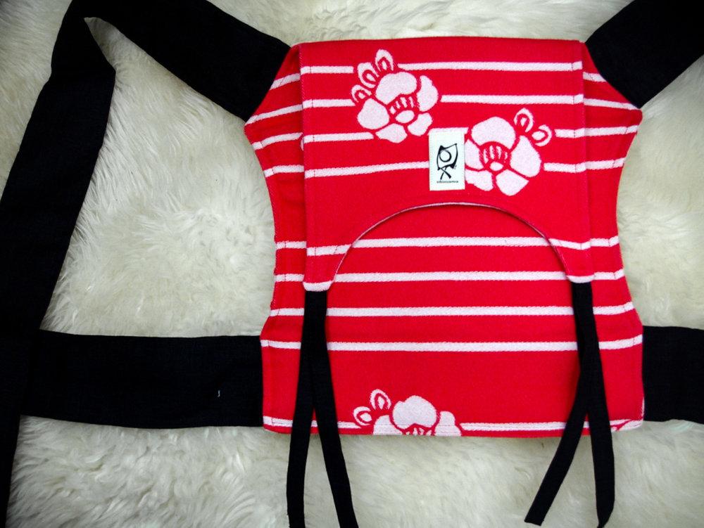 ObiMama Wrap Conversion Mei Tai Kokoro Textiles' Coco Lipstick ObiMini