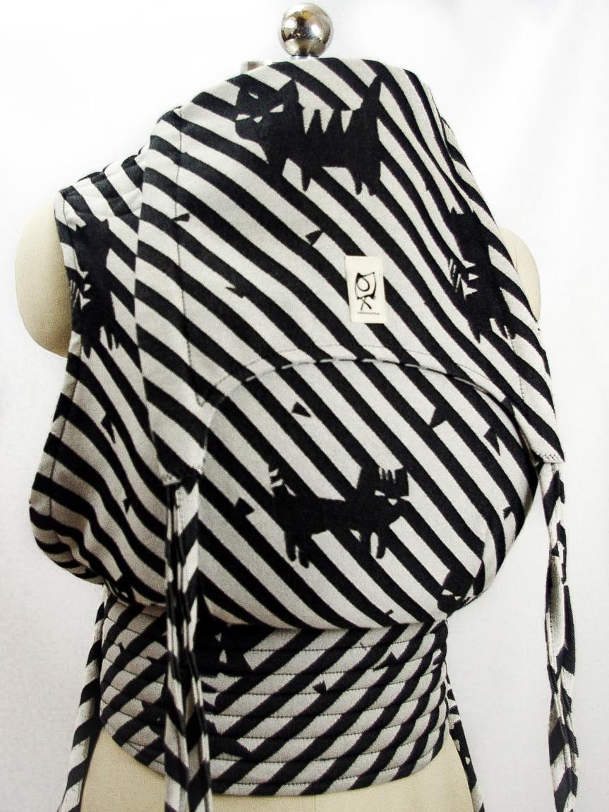 ObiMama Wrap Conversion Mei Tai Kokoro Textiles' Bad Koneko