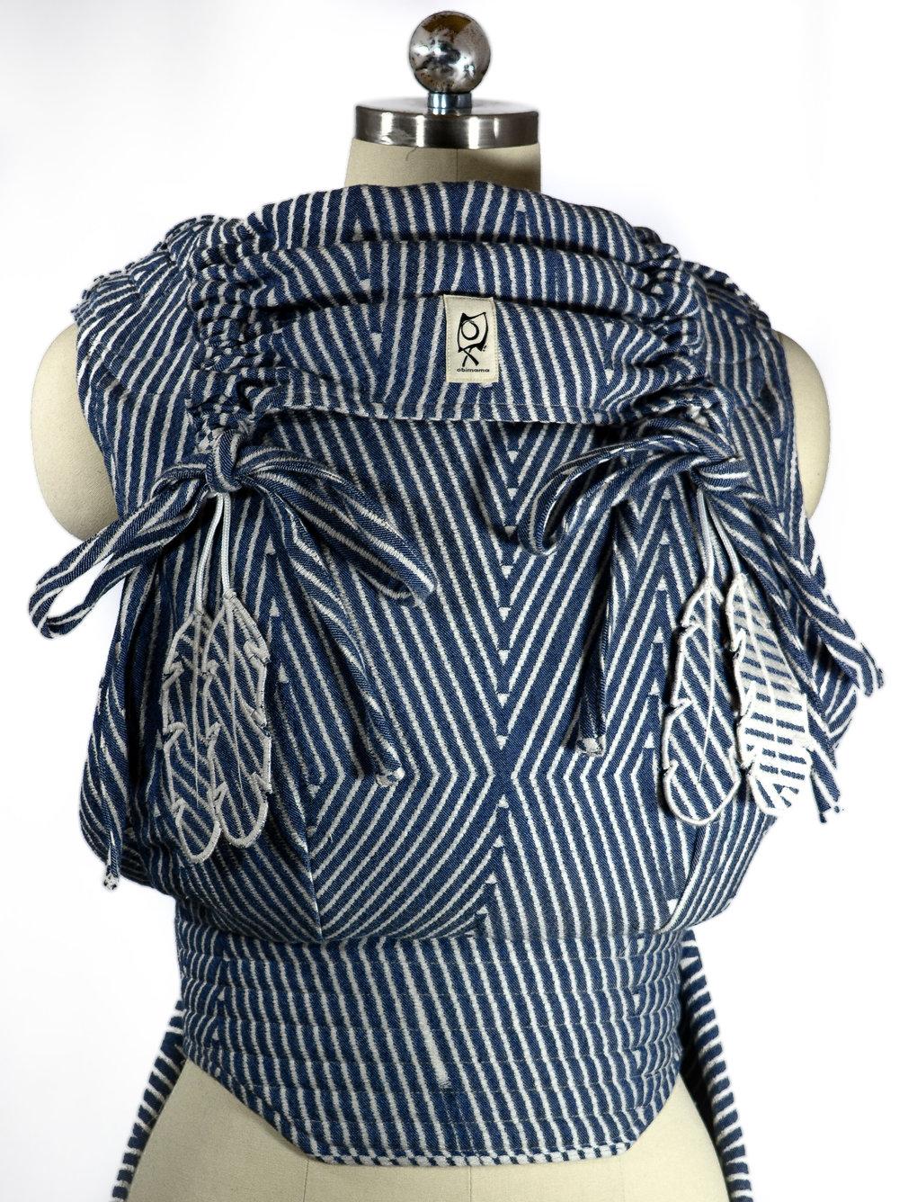 ObiMama Wrap Conversion Mei Tai Pavo Textiles' navy Perigee