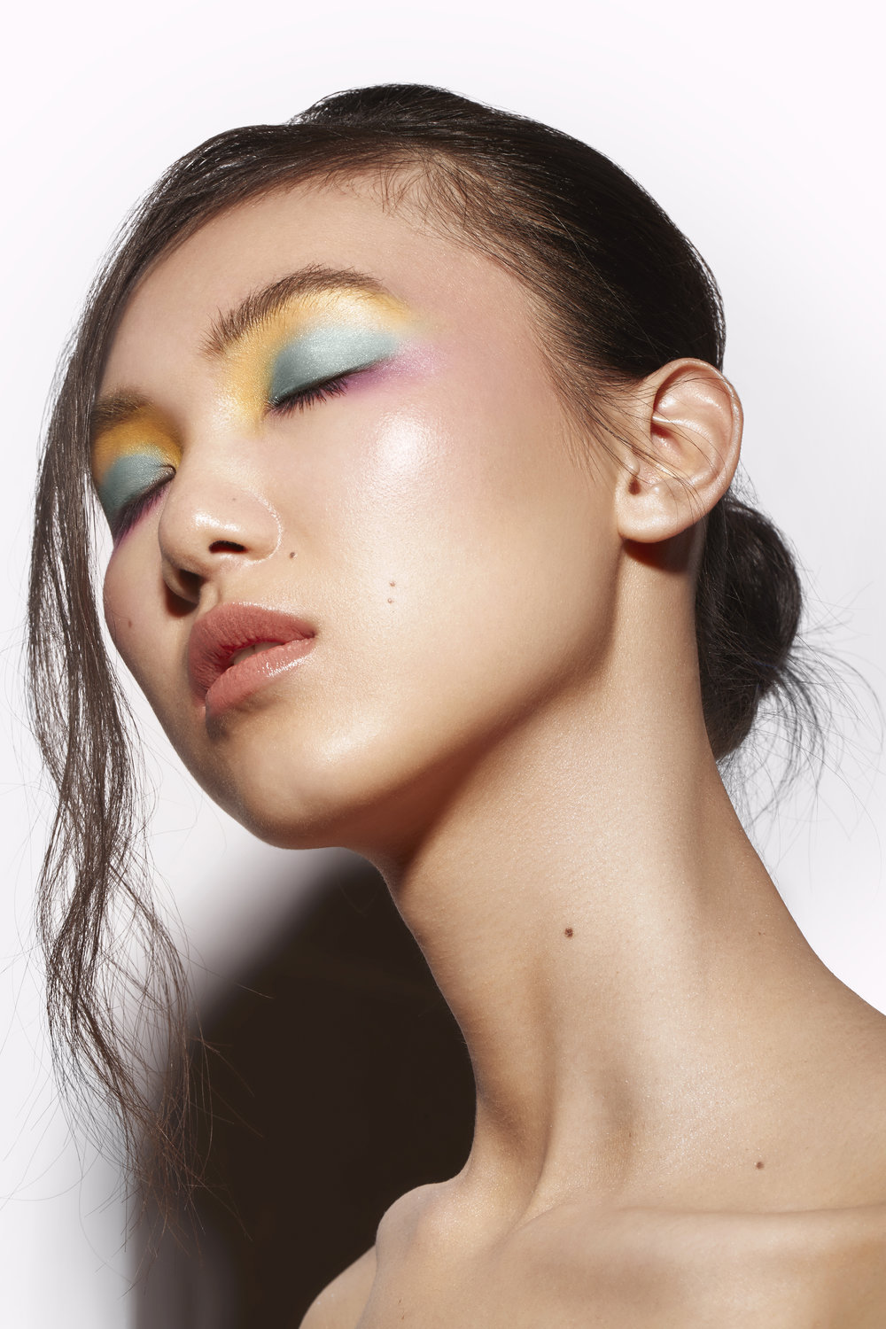 PASTEL LINES   Published in Volume 4 : Number 15 | March 2018  Photographer: Joelle Andrea: Model: Irene Yin | Look Model Agency; Makeup Artist: Eugeniya Lomeyko; Hair Stylist: Svetlana Cramer