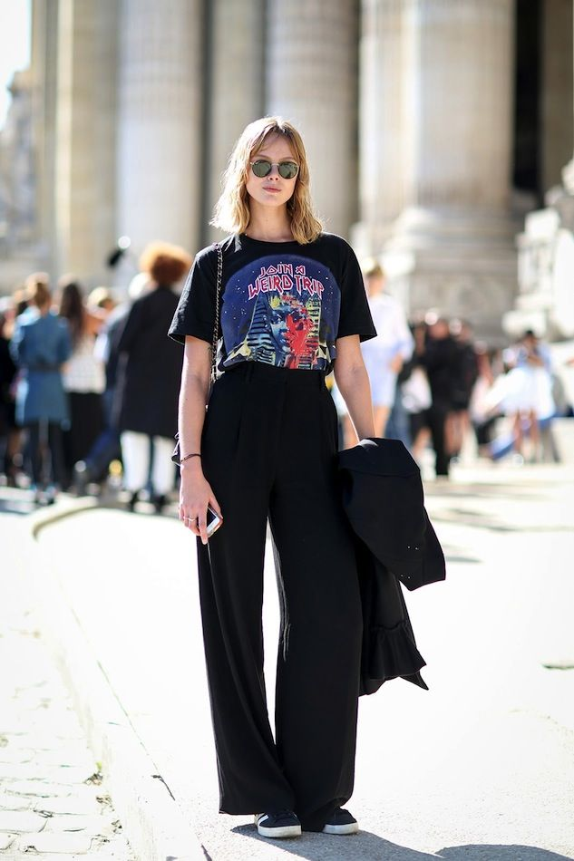 KEY TO THIS OUTFIT: - A pair of high waist dress pants