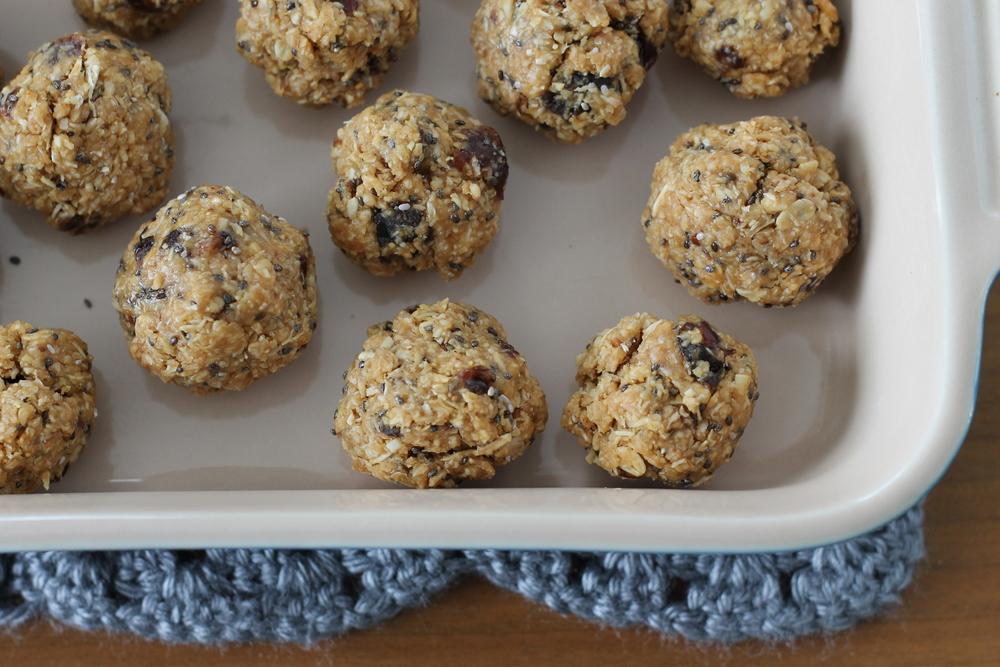 Oatmeal Raisin Peanut Butter Bites (via yummytoddlerfood.com)