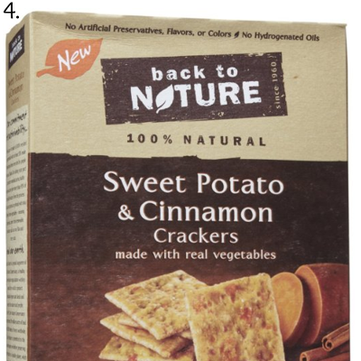 sweet potato and cinnamon crackers