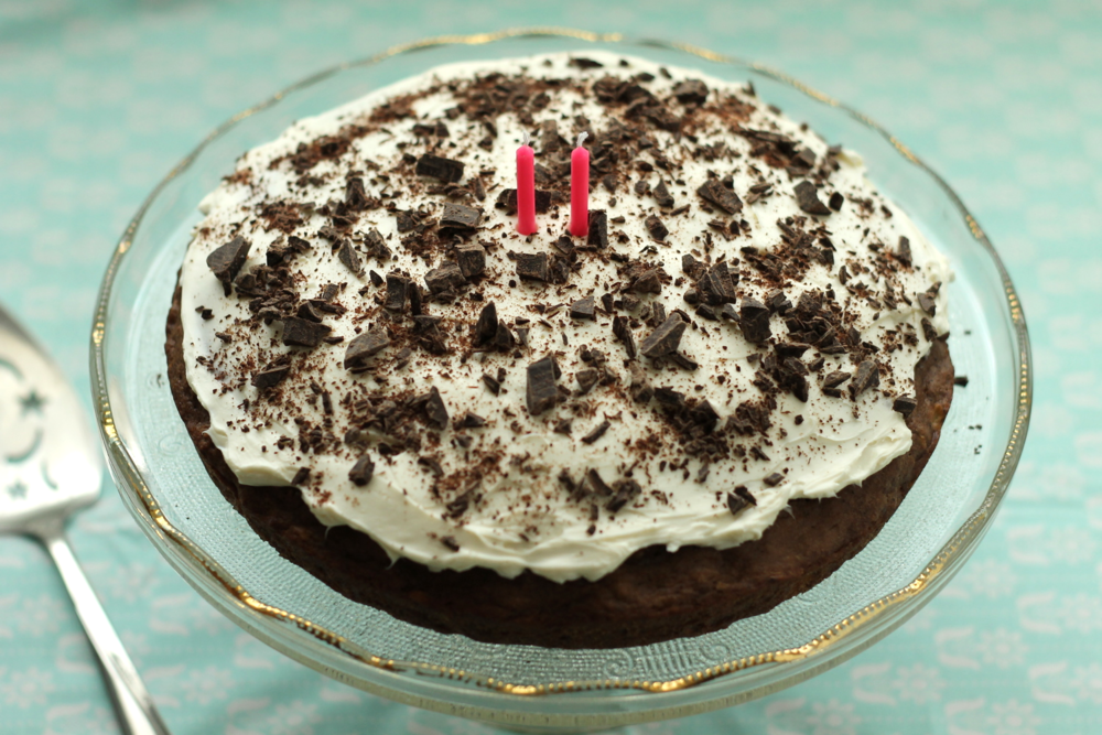 cocoa banana birthday cake