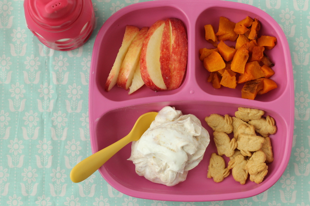 Vanilla Almond Butter Yogurt and 14 other shortcut dinners for toddlers via yummytoddlerfood.com