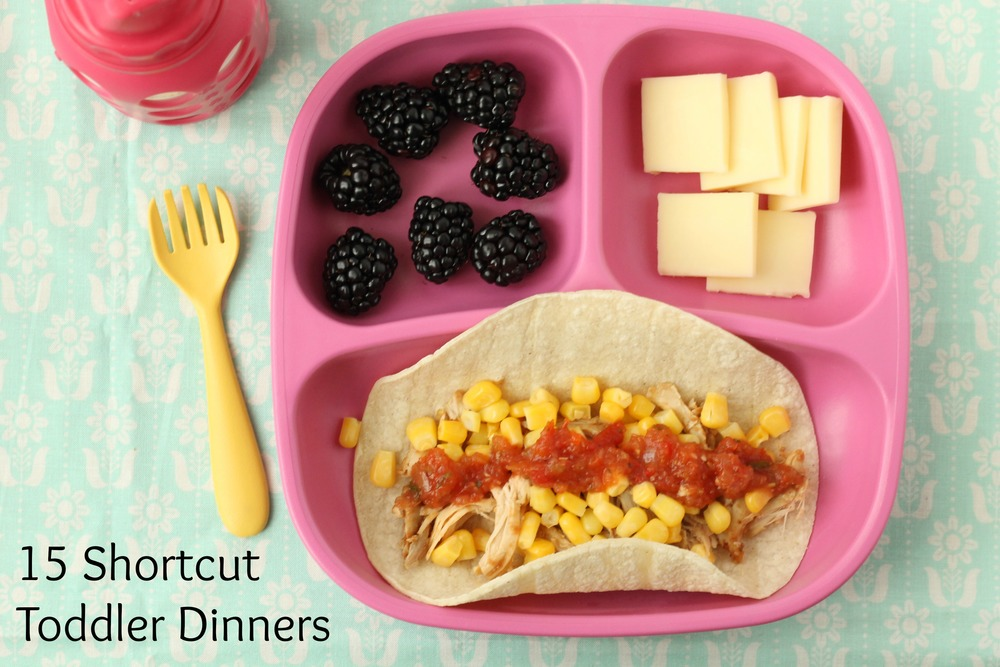 Shortcut Tacos and 14 other shortcut toddler dinners via yummytoddlerfood.com