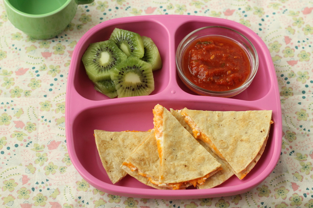 Quick Sweet Potato and Cheese Quesadillas via yummytoddlerfood.com