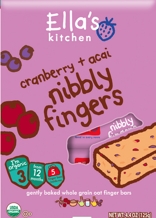 Fav toddler food: Ella's Kitchen Nibbly Fingers via yummytoddlerfood.com
