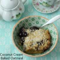 Coconut Cream Baked Oatmeal