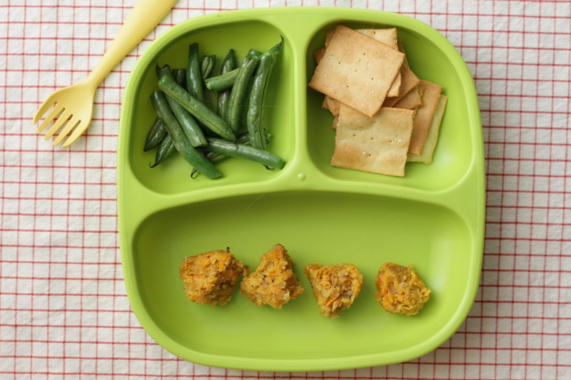 Sweet Potato Sausage Meatballs via yummytoddlerfood.com