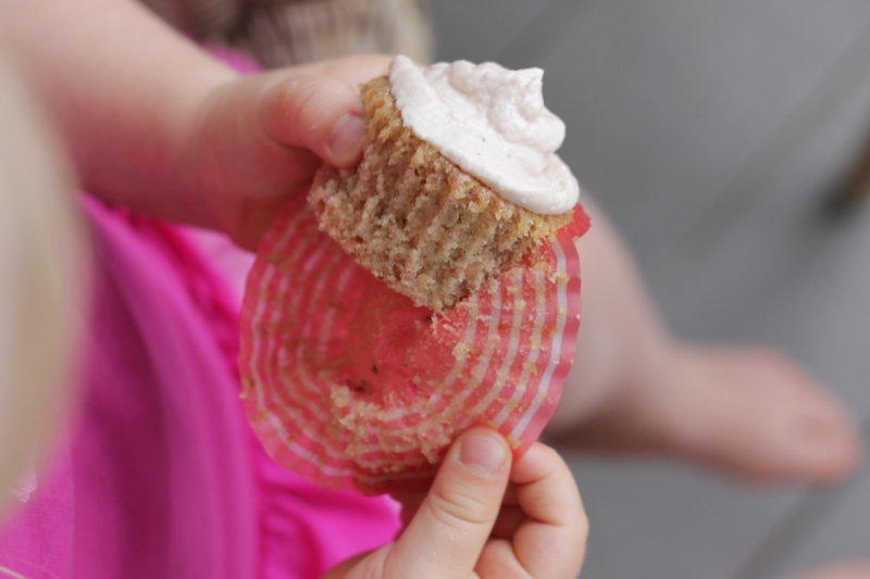Maple Strawberry Cupcakes via yummytoddlerfood.com