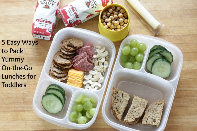 Easy Ideas to Pack and Go with Easy Toddler Lunch Ideas l yummytoddlerfood.com
