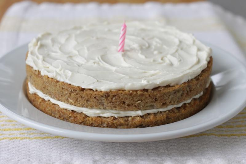 First birthday cake: All-Natural and Super Yummy Banana Birthday Cake