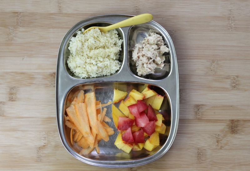 Shortcut couscous and tuna salad toddler meal (yummytoddlerfood.com)