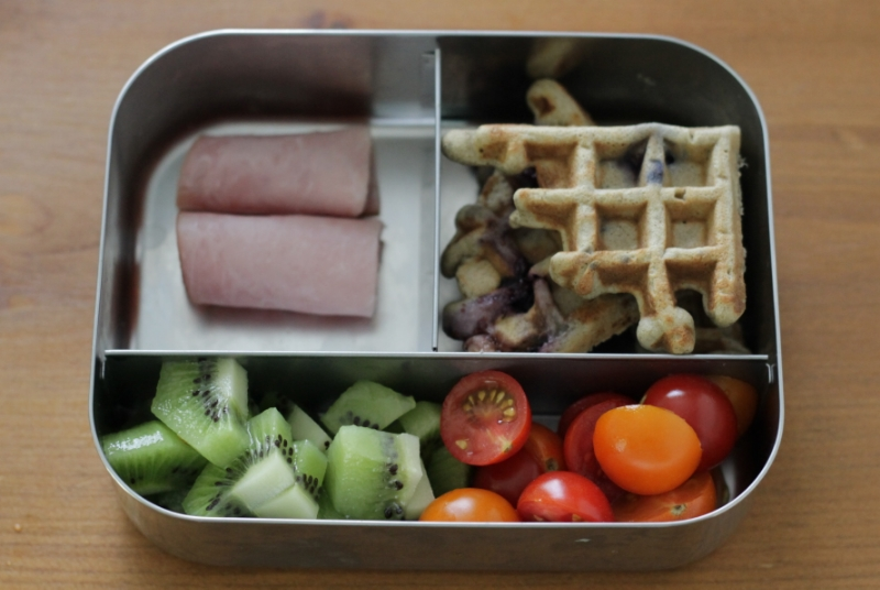 Yummy waffle lunch idea (yummytoddlerfood.com)