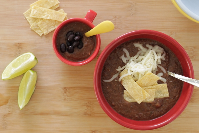Super Yummy 30-Minute Black Bean Soup