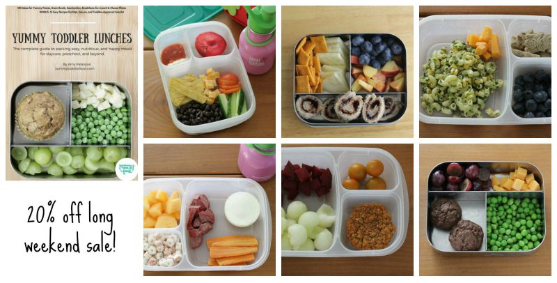 Get a copy of Yummy Toddler Lunches for 20% off this weekend!