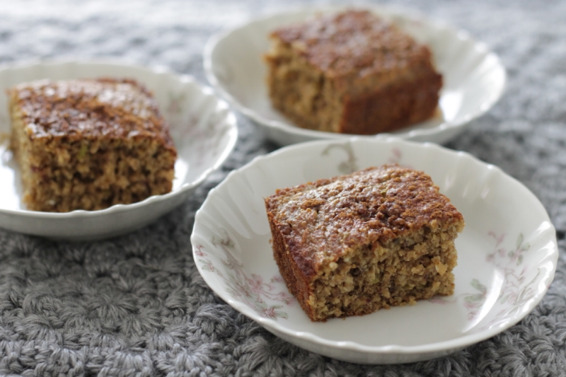Easy Gluten-free Apple Cake with whole grains and produce. It's a perfect fall treat!