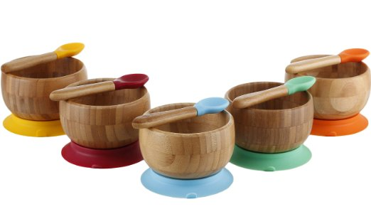 Bamboo Stay Put Suction Bowl—a perfect toddler feeding option!