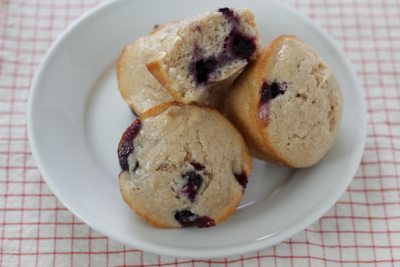 Easy and Egg-free Blueberry Muffins for the whole family