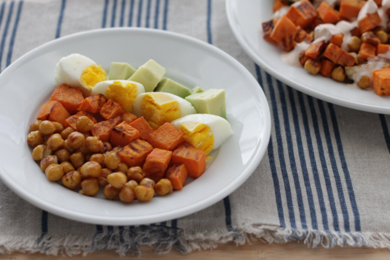 Mama and Me Roasted Sweet Potato Hash (ready in just 30 minutes!)