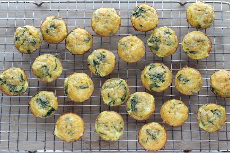 Make-Ahead Mexican Egg Muffins with Spinach