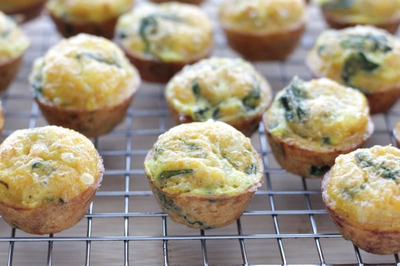 One-Bowl Mexican Egg Muffins, easy for little hands to hold and nibble
