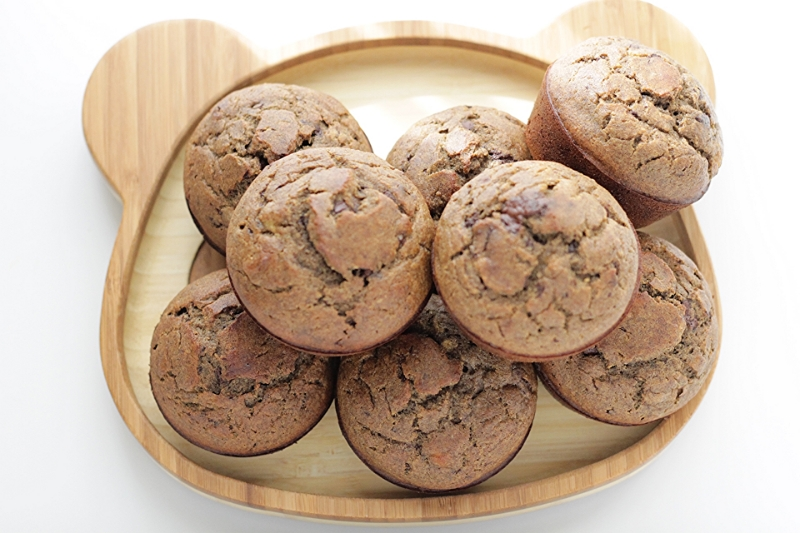 Buckwheat Chocolate Chip Banana Muffins, gluten and nut free