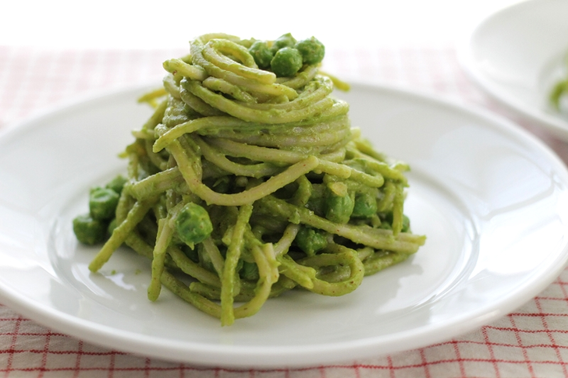 Family-Friendly pesto pasta loaded with super healthy greens