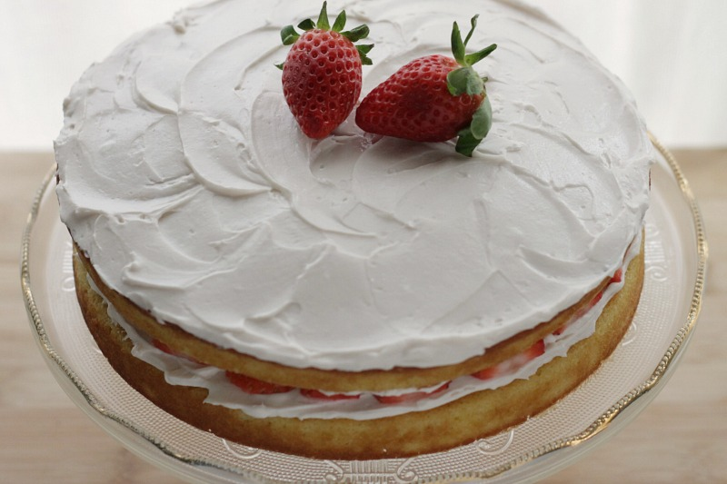 Lower Sugar Birthday Cake- classic vanilla flavor with a burst of fresh berries